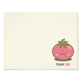 Niedliche glückliche Kawaii Tomate danken Ihnen 10,8 X 14 Cm Einladungskarte