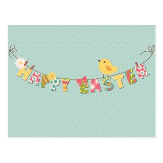 Niedliche glückliche Ostern-Karte Postkarte
