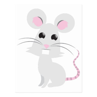 Niedliche graue Maus Postkarte