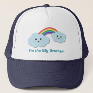 Niedliche großer Bruder-Wolken und Regenbogen Truckerkappe