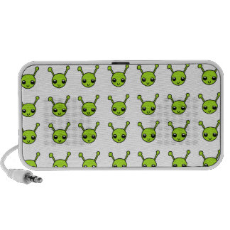 Niedliche grüne Außerirdische Laptop Lautsprecher