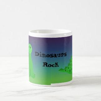 Niedliche grüne Dinosaurier Kaffeetasse