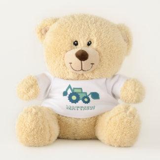 Niedliche grüne Löffelbaggerillustration für Teddybär