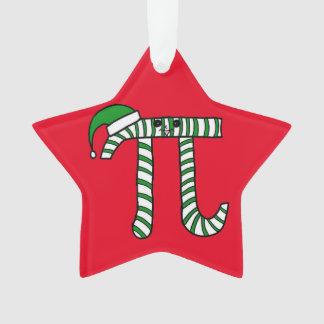 Niedliche grüne Mathe-Verzierung Weihnachtspus Ornament