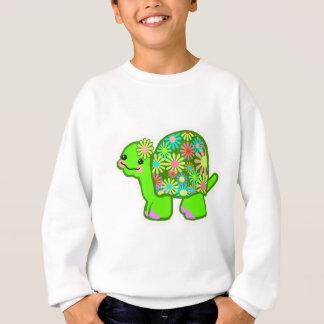 Niedliche grüne Schildkröte mit retro Sweatshirt