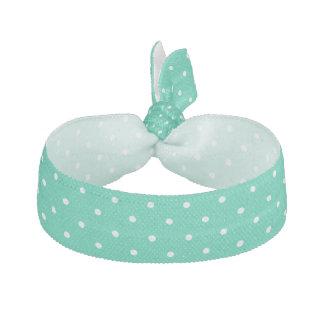 Niedliche grüne weiße Polka-Punkte - Haargummi