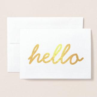 Niedliche hallo-Goldfolien-Einladungs-Karte Folienkarte