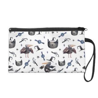 Niedliche Halloween gemalte Muster (Customizeable Wristlet Handtasche