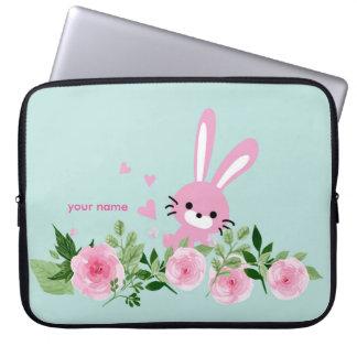 niedliche Häschen Neopren-Laptop-Hülse 15 Zoll Laptop Sleeve