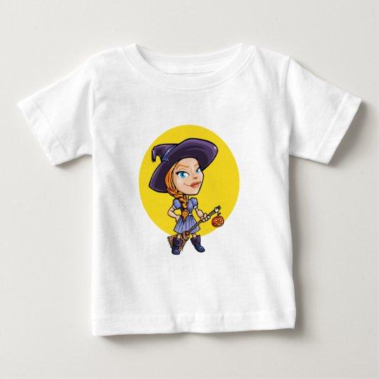 Niedliche Hexe mit Baby T-shirt