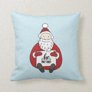 Niedliche ho ho ho Sankt, die Weihnachten zeichnet Kissen
