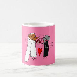 Niedliche Hochzeits-Mäuse Tasse