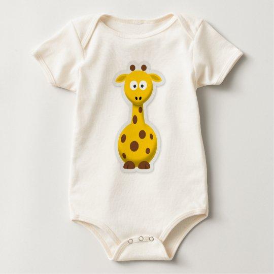 Niedliche hohe Giraffenzootiere Baby Strampler