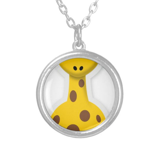 Niedliche hohe Giraffenzootiere Halskette Mit Rundem Anhänger
