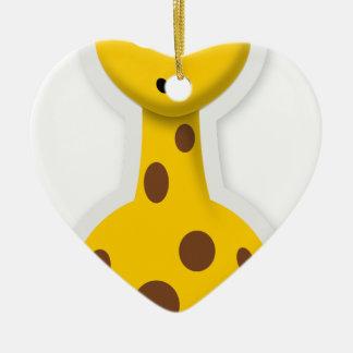 Niedliche hohe Giraffenzootiere Keramik Ornament
