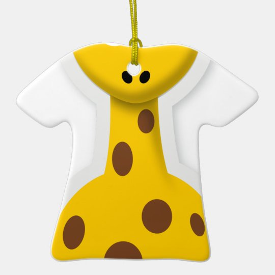 Niedliche hohe Giraffenzootiere Keramik T-Shirt-Ornament