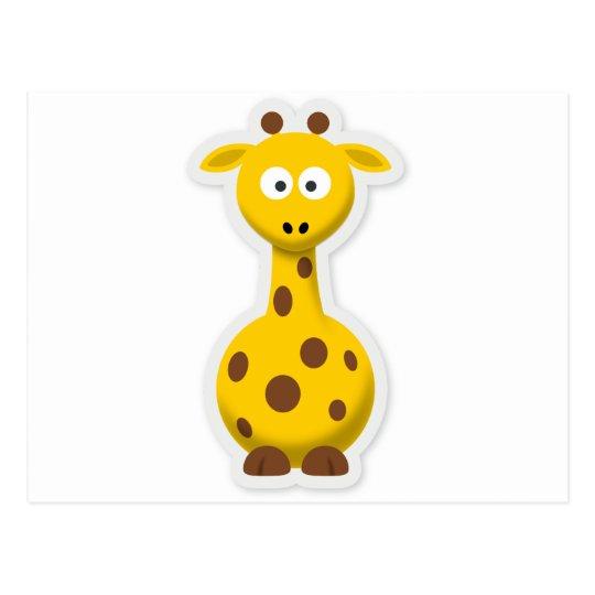 Niedliche hohe Giraffenzootiere Postkarte