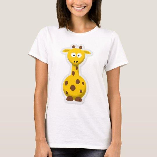 Niedliche hohe Giraffenzootiere T-Shirt