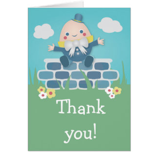 Niedliche Humpty Dumpty Baby-Dusche danken Ihnen Karte