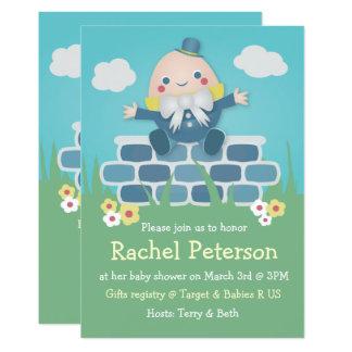 Niedliche Humpty Dumpty Baby-Duschen-Einladung Karte