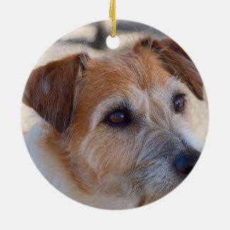 Niedliche Hundeverzierung Rundes Keramik Ornament