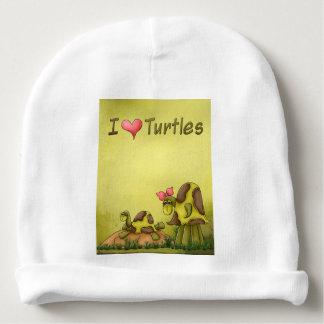 Niedliche I Liebe-Schildkröten der Goofy Babymütze
