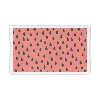 Niedliche illustrierte Sommer-Wassermelone sät Acryl Tablett