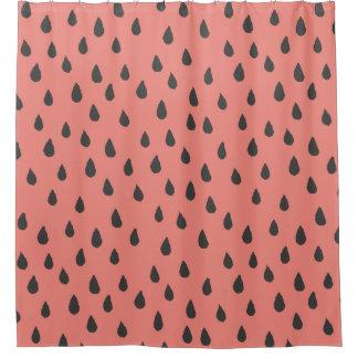 Niedliche illustrierte Sommer-Wassermelone sät Duschvorhang