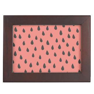 Niedliche illustrierte Sommer-Wassermelone sät Erinnerungsdose