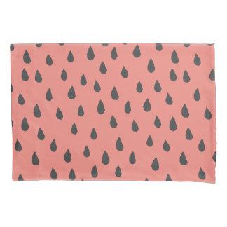 Niedliche illustrierte Sommer-Wassermelone sät Kissen Bezug