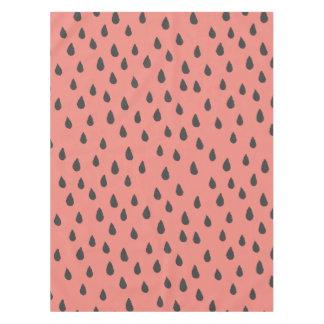 Niedliche illustrierte Sommer-Wassermelone sät Tischdecke