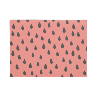Niedliche illustrierte Sommer-Wassermelone sät Türmatte