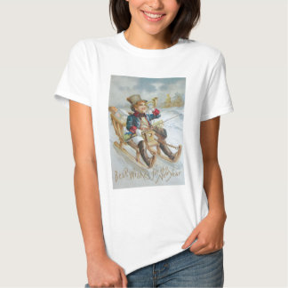 Niedliche Jungen-Schlitten-Schnee-Horn-Geschenke Hemd
