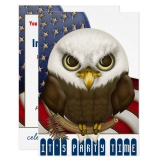 Niedliche kahler Adler-patriotische Feier Karte