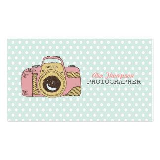 Niedliche Kamera-Fotografie-Geschäfts-Karten der Visitenkarte