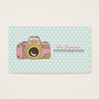 Niedliche Kamera-Fotografie-Geschäfts-Karten der Visitenkarten