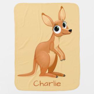 Niedliche Känguru-Name-Babydecke Babydecke