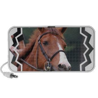 Niedliche Kastanien-Pferdeportable-Lautsprecher