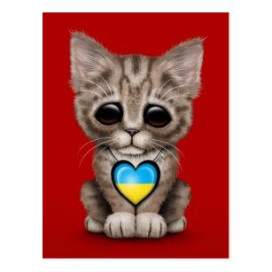kleine rote Katze niedlich! Ansichtskarte
