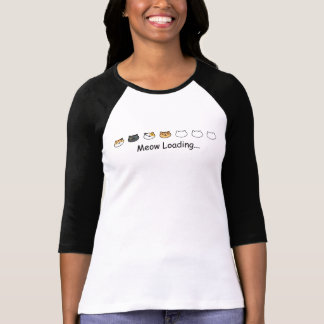 Niedliche Katzen, die mit Meow-Ladentext laden T-Shirt