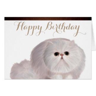 Niedliche Katzen-Geburtstags-Gruß-Karte Karte