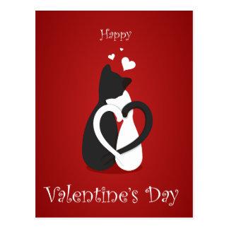 Niedliche Katzen-Liebe des Valentines Tages Postkarte