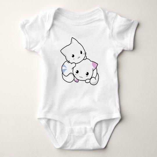 Niedliche Katzenfreunde Baby Strampler