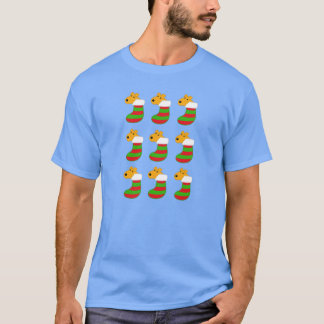 Niedliche Kawaii Hunde im T-Shirt