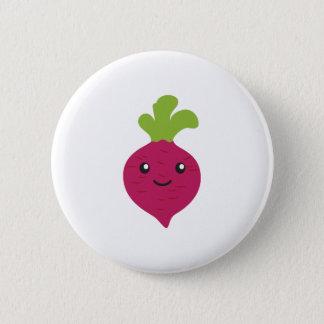 Niedliche Kawaii rote Rübe Runder Button 5,1 Cm
