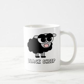 Niedliche kleine schwarze Schafe Kaffeetasse