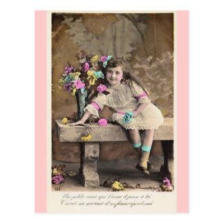 Niedliche kleine viktorianische französische postkarte