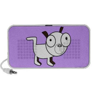 niedliche kleiner Hundegraphik Notebook Speaker