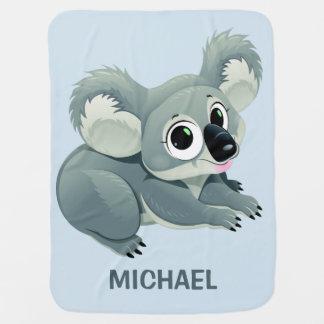 Niedliche Koala-Name-Babydecke Puckdecke