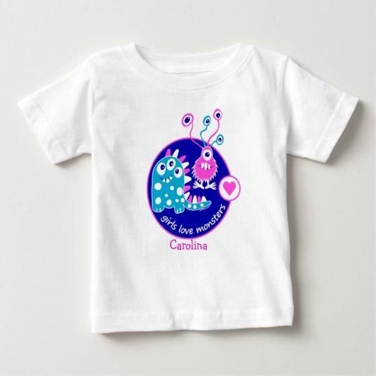Niedliche kundengerechte lustige kleine rosa baby t-shirt